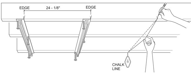 Ceilinglink Is Attached To Existing Drywall Or Tongue Groove Tiles Using Longer S Reach The Joists